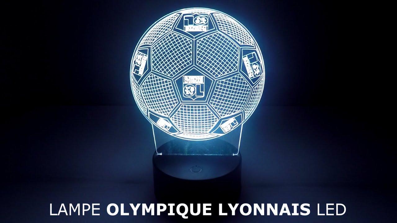 Olympique Led Led Lampe En Lampe Olympique Lyonnais Lyonnais En sCtrBhodQx