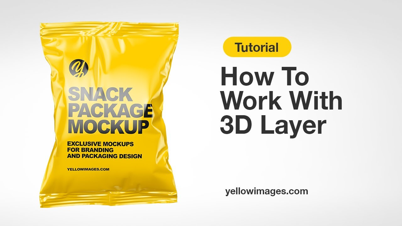 Download Yellow Images Tutorial How To Work With 3d Layer Youtube PSD Mockup Templates