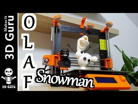 Olaf the Snowman printed on a 3D printer / Snehuliak Olaf vytlačený na 3D tlačiarni
