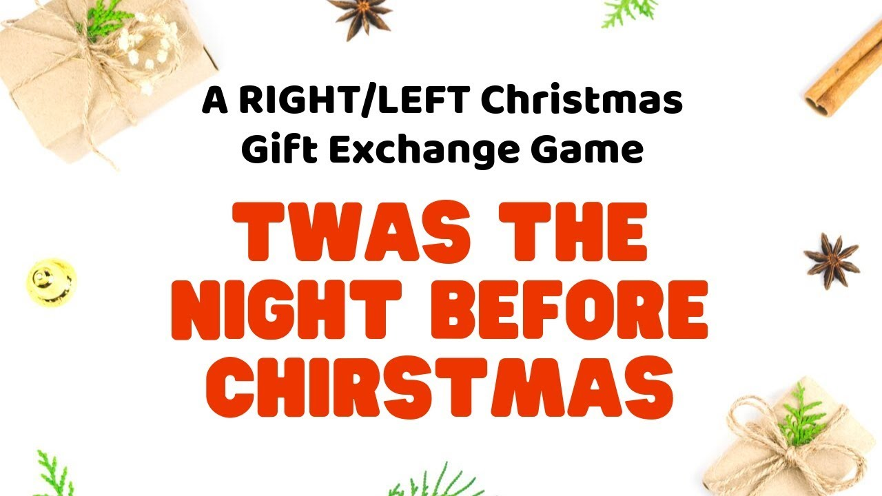 Christmas exchange gift games left right