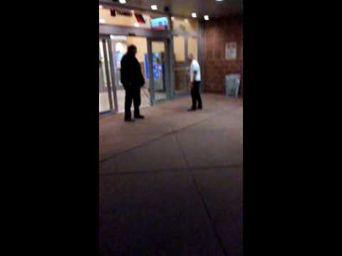 Homeless man get pop at the bus station in atlantic city nj
