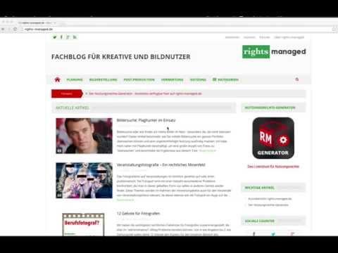 Screencast - Vorstellung des Fachblogs rights-managed.de