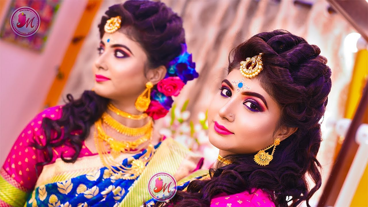 wedding reception makeup    step-by-step demonstration    by mayuri sinha sarkar