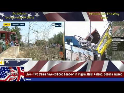 LIVE - Two trains have collided head-on in Puglia, Italy. 20 dead, dozens injured