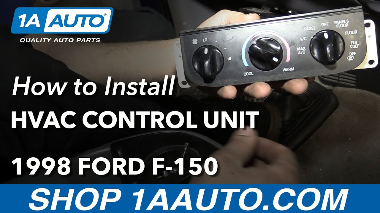 how to replace hvac control unit 97 04 ford f 150 [ 1280 x 720 Pixel ]