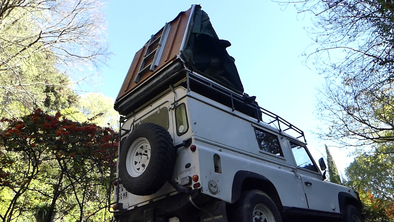 Landrover DIY roofrack hack for mounting heavy roof tent