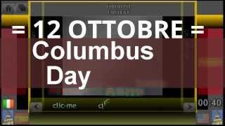 OTTOBRE 12 ANNiversario / Giornata di Cristoforo Colombo / ricorrenza della Scoperta dell'America (1492) / Festa Nazionale Spagnola / San Serafino