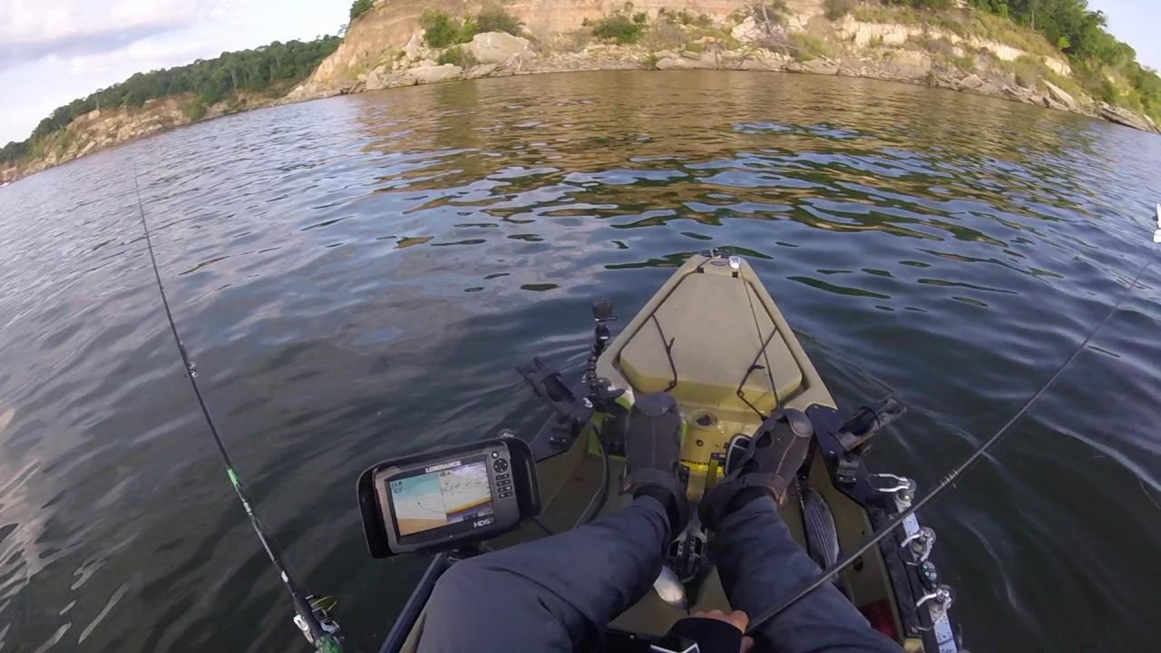 Kayak fishing for lake texoma stripers youtube for Texoma fishing license