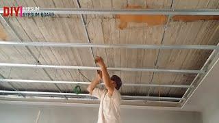 gypsum board kaise banta hai | gypsum board ka kaam | gypsum board installation