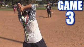 WEIRDEST SWING EVER! | Offseason Softball League | Game 3 thumbnail