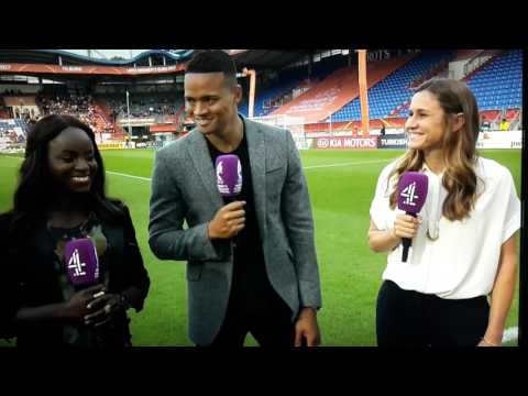 (JERMAINE JENAS ) Squirted in the face by sprinkler LOL # Fail # Diva