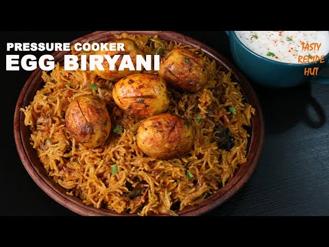 Pressure Cooker Egg Biryani ! Easy Egg Biryani Recipe