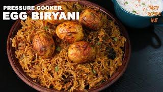 Pressure Cooker Egg Biryani ! Easy Egg Biryani Recipe