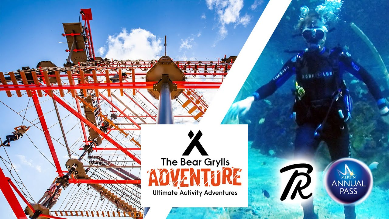 HIGH ROPES & DIVING at The Bear Grylls Adventure | Thrill Riders