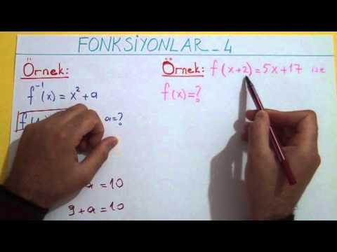 Fonksiyonlar 4 Fonk. Tersine Örnek Çözümleri Şenol Hoca Matematik