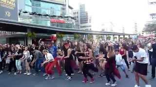 Flash mob wedding proposal Dundas Square Toronto