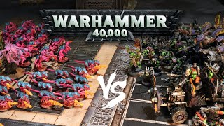 Synthwave Tyranids vs Deathskulls Orks: 500 point Warhammer 40,000 Battle Report