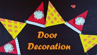 Very Easy To Make Paper Door Hanging Toran | DIY Door Decor Crafts | Christmas Decoration Craft