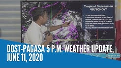 DOST-Pagasa 5 P.M. weather update, June 11, 2020