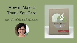 How to Make a Thank You Card with an Easy Design Idea