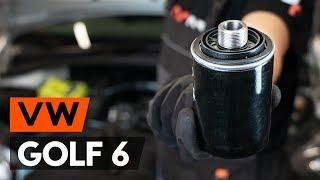 Τοποθέτησης Φίλτρο λαδιού VW GOLF VI (5K1): δωρεάν βίντεο