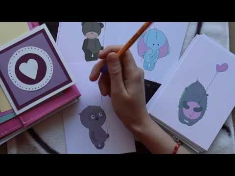 видео: diy #1/ Как легко сделать открытку / Посткроссинг