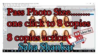 pass photo size photo one click to 8 copies action  saha shankar