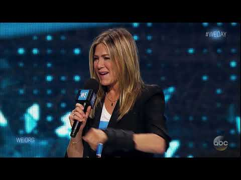 Jennifer Aniston as one of the speakers of  WE Movement's WE Day 2018