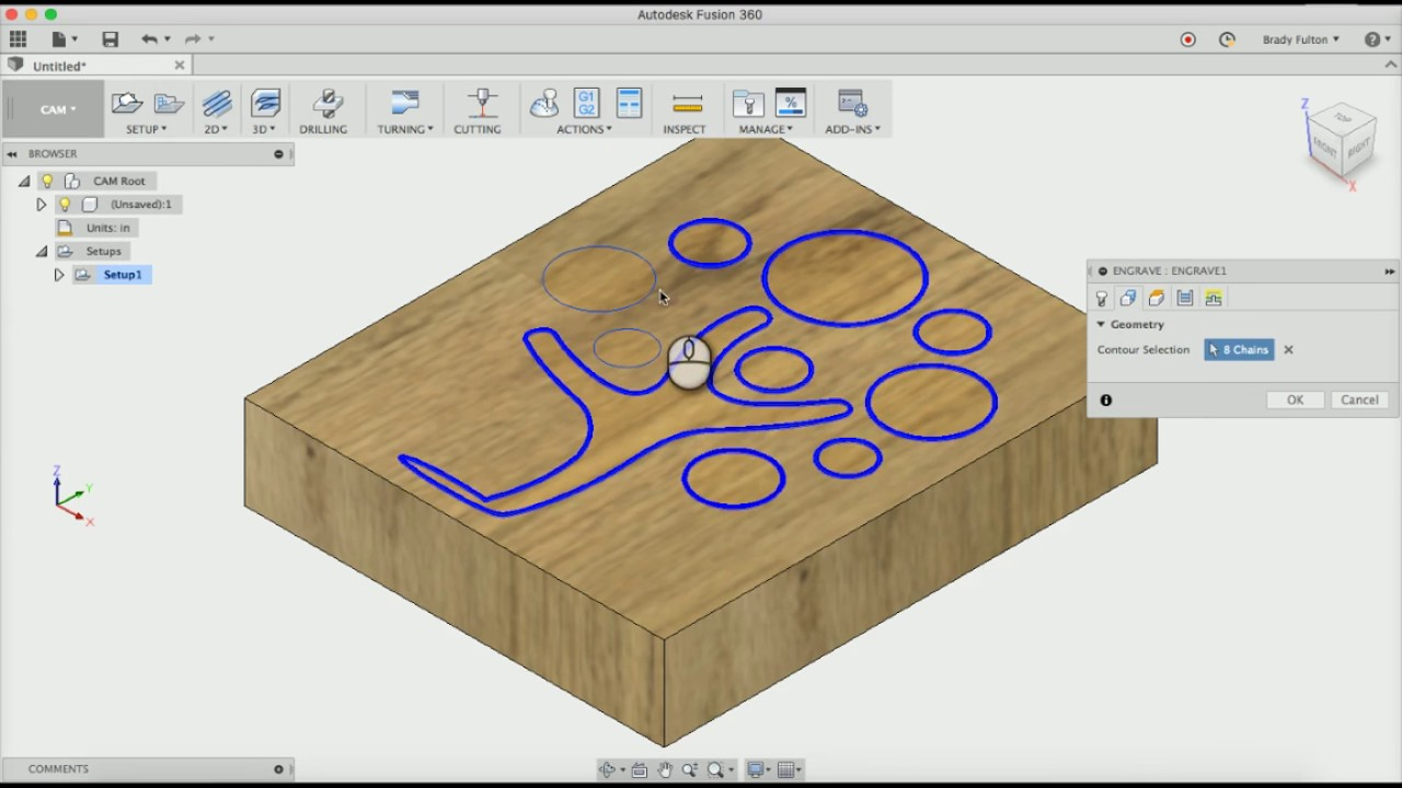 Using a logo for engraving in Fusion 360