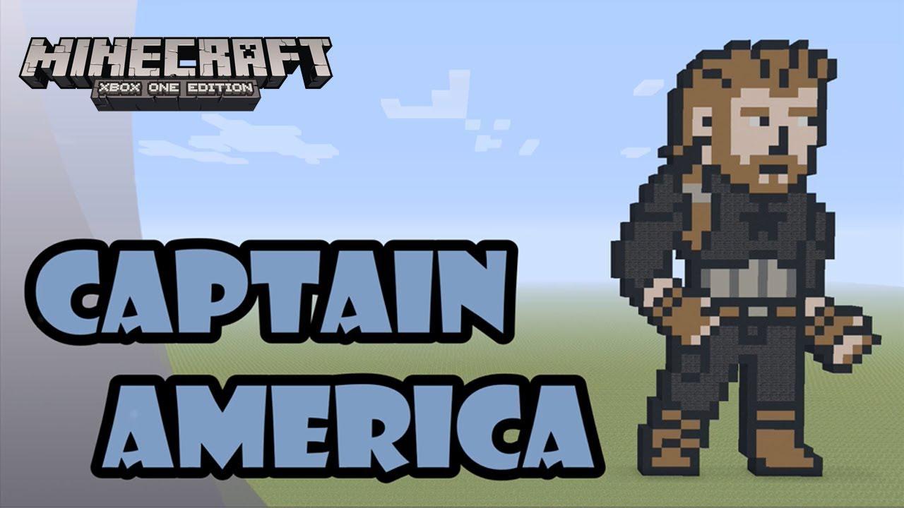 Minecraft Pixel Art Tutorial And Showcase Captain America Aka Nomad Avengers Infinity War