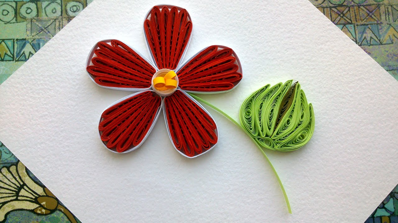 Quilling designs flowers how to make a paper quilling for How to make a paper design