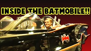 Inside the Adam West 1966 TV Series Movie Batmobile by George Barris!! SDCC Comic-Con 2001!