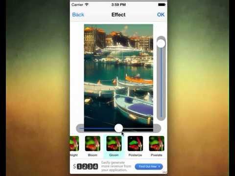 PhotoGram Image Editor iOS Template + iAd