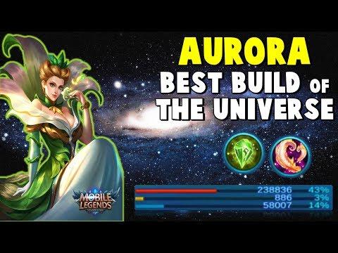 AURORA 240K DAMAGE GAMEPLAY ! BEST BUILD IN THE UNIVERSE - Mobile Legends