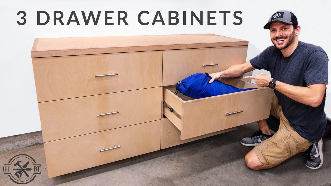 DIY 3 Drawer Base Cabinets | Miter Saw Station pt 1