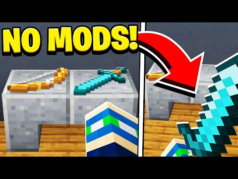 How to PLACE and PICK UP ANY ITEM in Minecraft Tutorial! (NO MODS!)