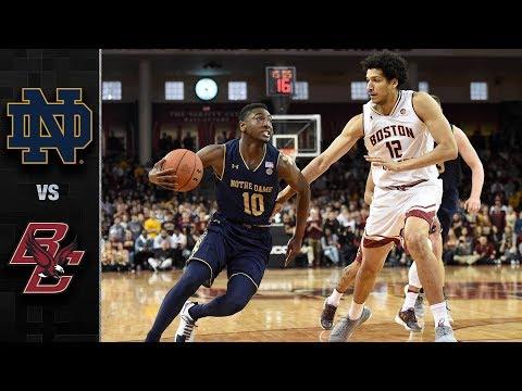 Notre Dame vs. Boston College Basketball Highlights (2017-18)