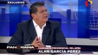 """Alan García: """"En 12 meses podemos reducir la delincuencia"""""""