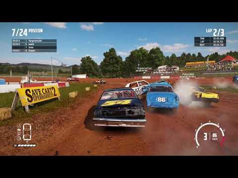 WRECKFEST - Figure of 8 Banger Race at the Bloomfield Speedway - Car Destruction Race Gameplay!