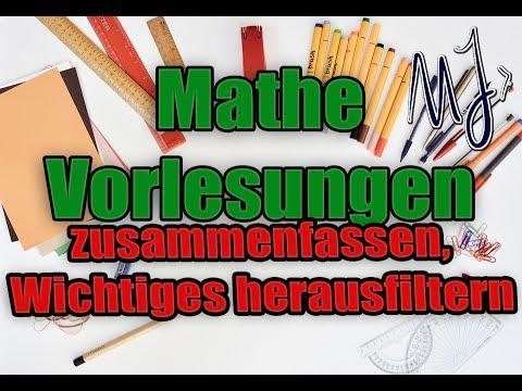 Uni Klausurvorbereitung Mathe Vorlesungen Zusammenfassen