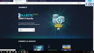 how to have 2800 vbucks for free on fortnite no fake gamekit-KYLLIAN!