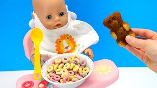 Открываи Пошире Рот! Как МАМА Кормила Беби Бон Завтрак Для Куклы Мультик для детеи