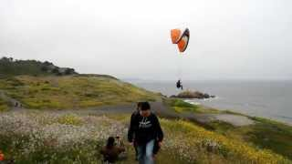 Paragliding in Pacifica California With Velocity Elektra Paragliders!