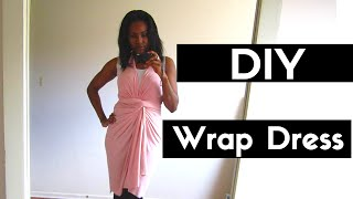 How To Make a DIY Wrap Dress - Quick and Easy Tutorial
