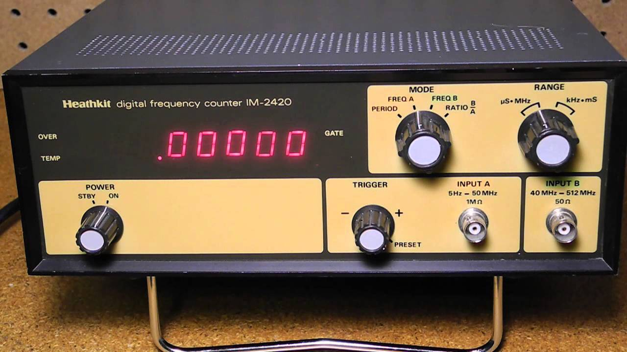 The Heathkit Im And Im Digital Frequency