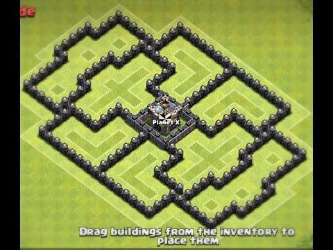 Best Th7 Farming Base (Clan Castle Center)