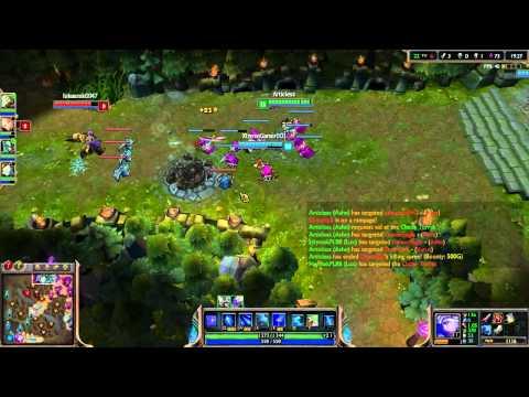 Dota 2 player tries LoL - Ashe the Drow Ranger