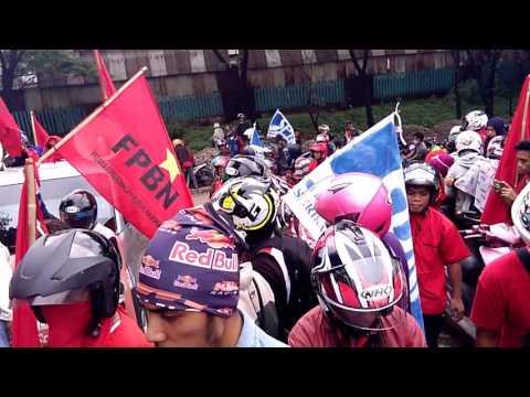 Aksi Samurai 2016 - Menolak PP 78 Tentang Upah