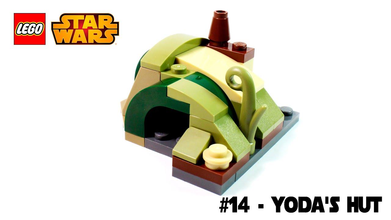 lego star wars magazine building timelapse 14 yodas hut - Lego Yoda