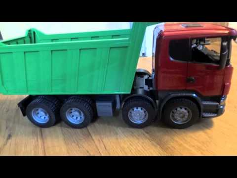 Bruder Scania R-Series Dump Truck 03550 Review